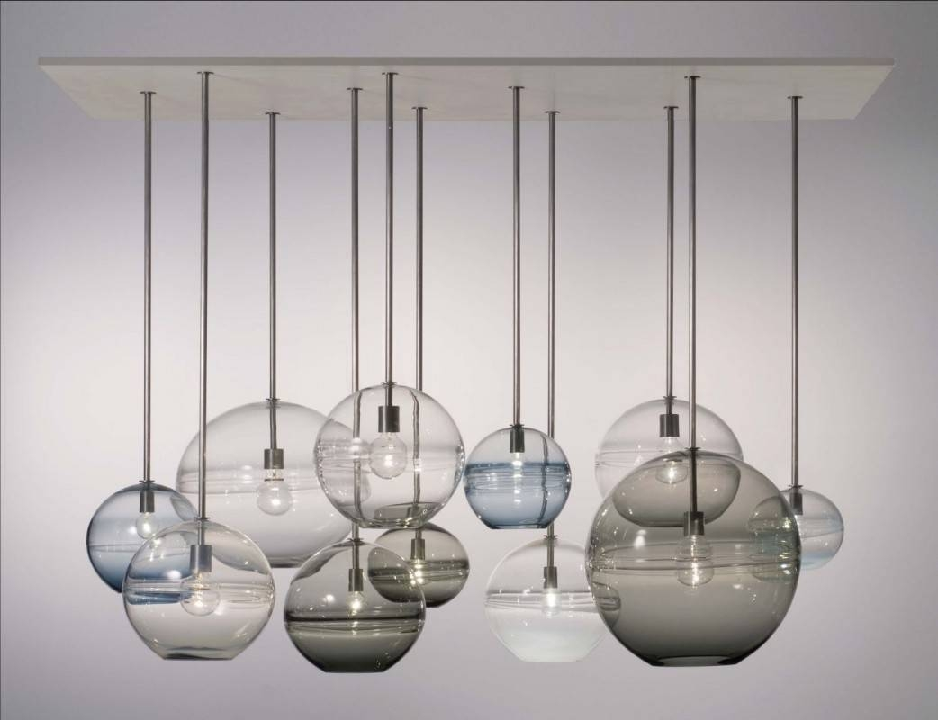 Home Decor + Home Lighting Blog » Chandeliers in Cluster Glass Pendant Lights Fixtures (Image 8 of 15)