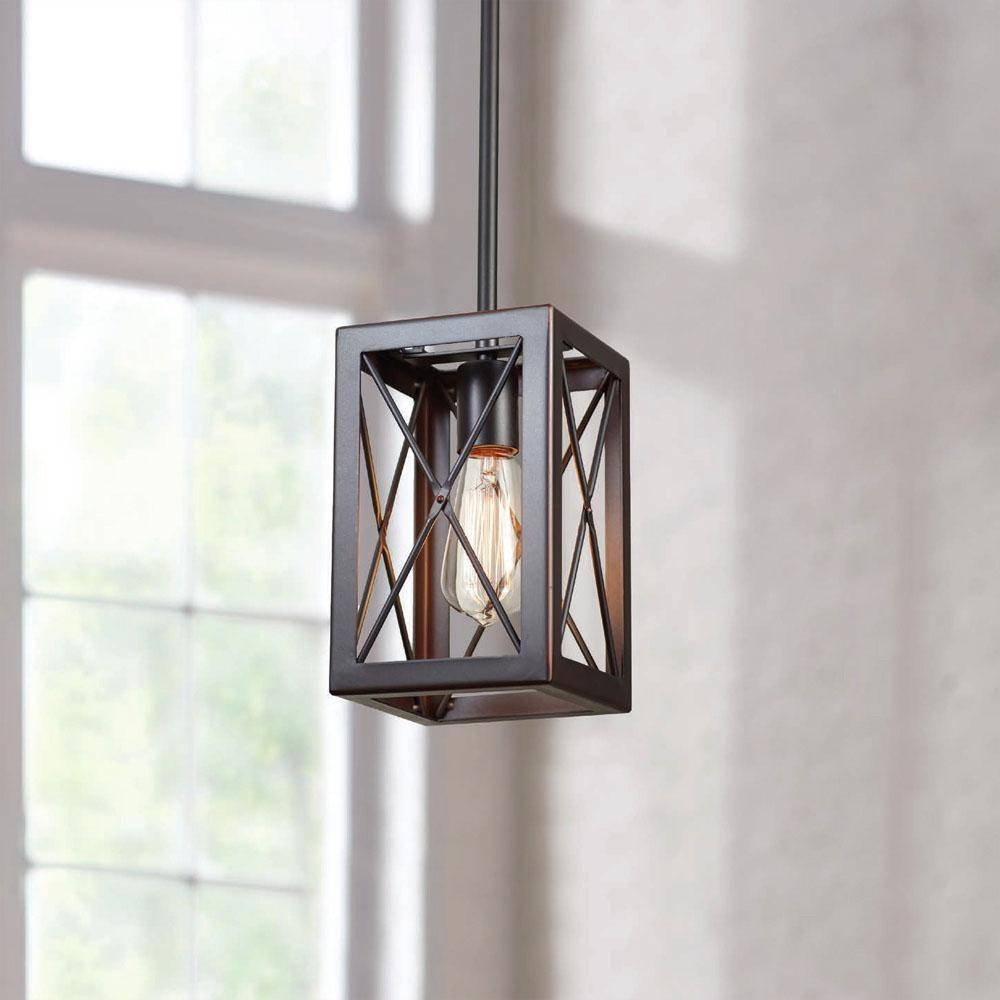 Home Decorators Collection – Hanging Lights – Lighting & Ceiling Intended For Mini Lantern Pendant Lights (View 7 of 15)