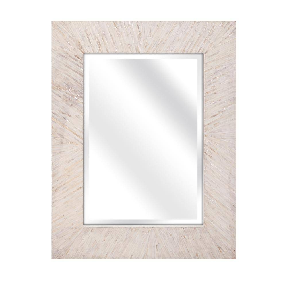 Home Decorators Collection Ophelia Mother Of Pearl Wall Mirror in Mother of Pearl Wall Mirrors (Image 7 of 15)