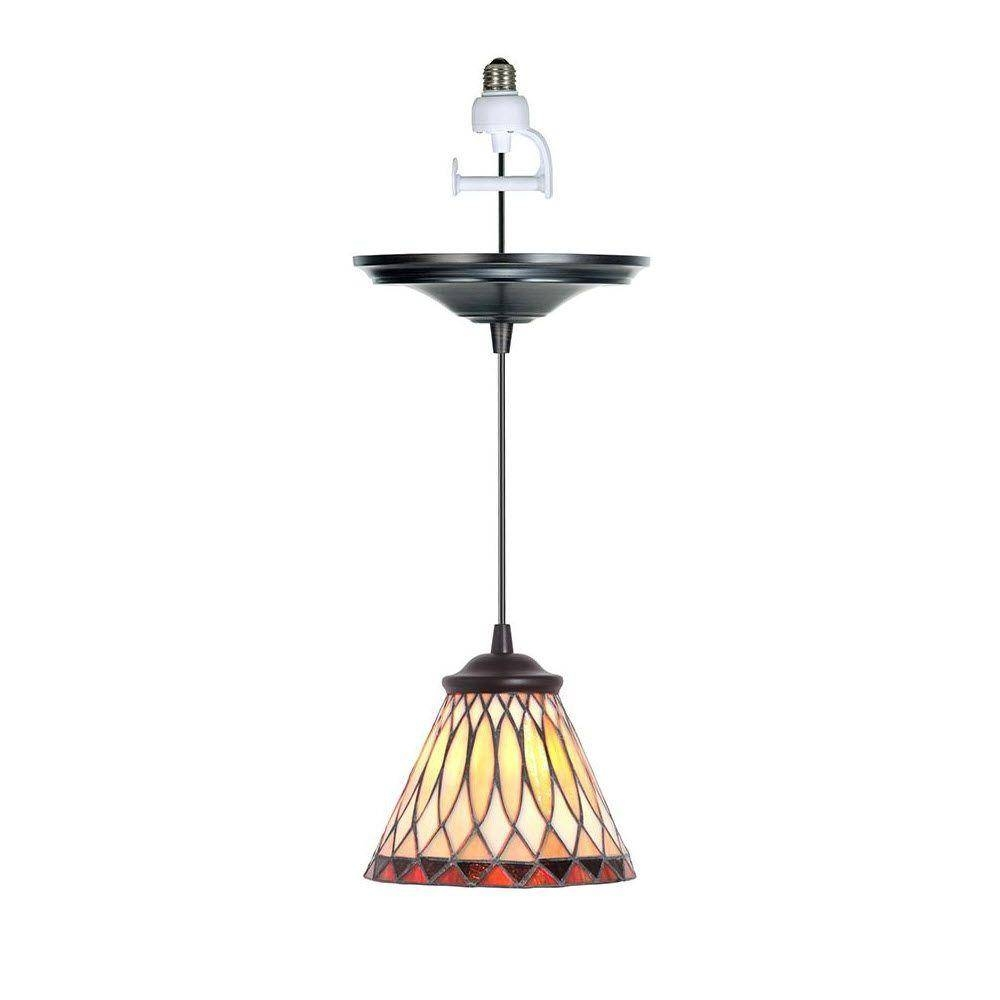 Home Decorators Collection Ryder 1 Light Clear Instant Pendant Inside Screw In Pendant Lights Fixtures (View 3 of 15)