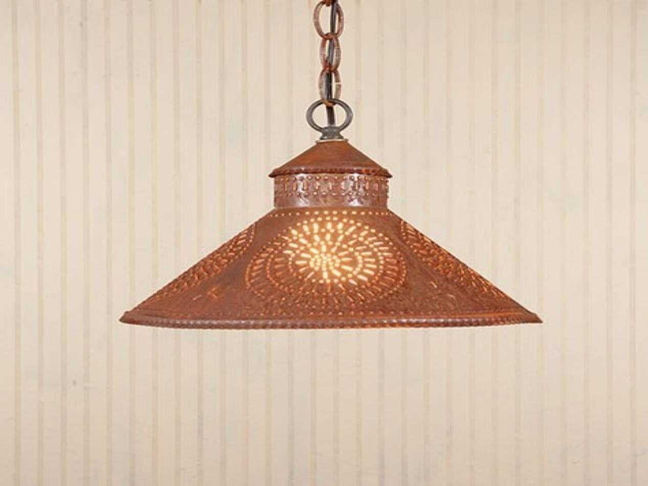 Home Design : Punched Tin Lamp Shadespark Designs Rustic intended for Punched Metal Pendant Lights (Image 4 of 15)