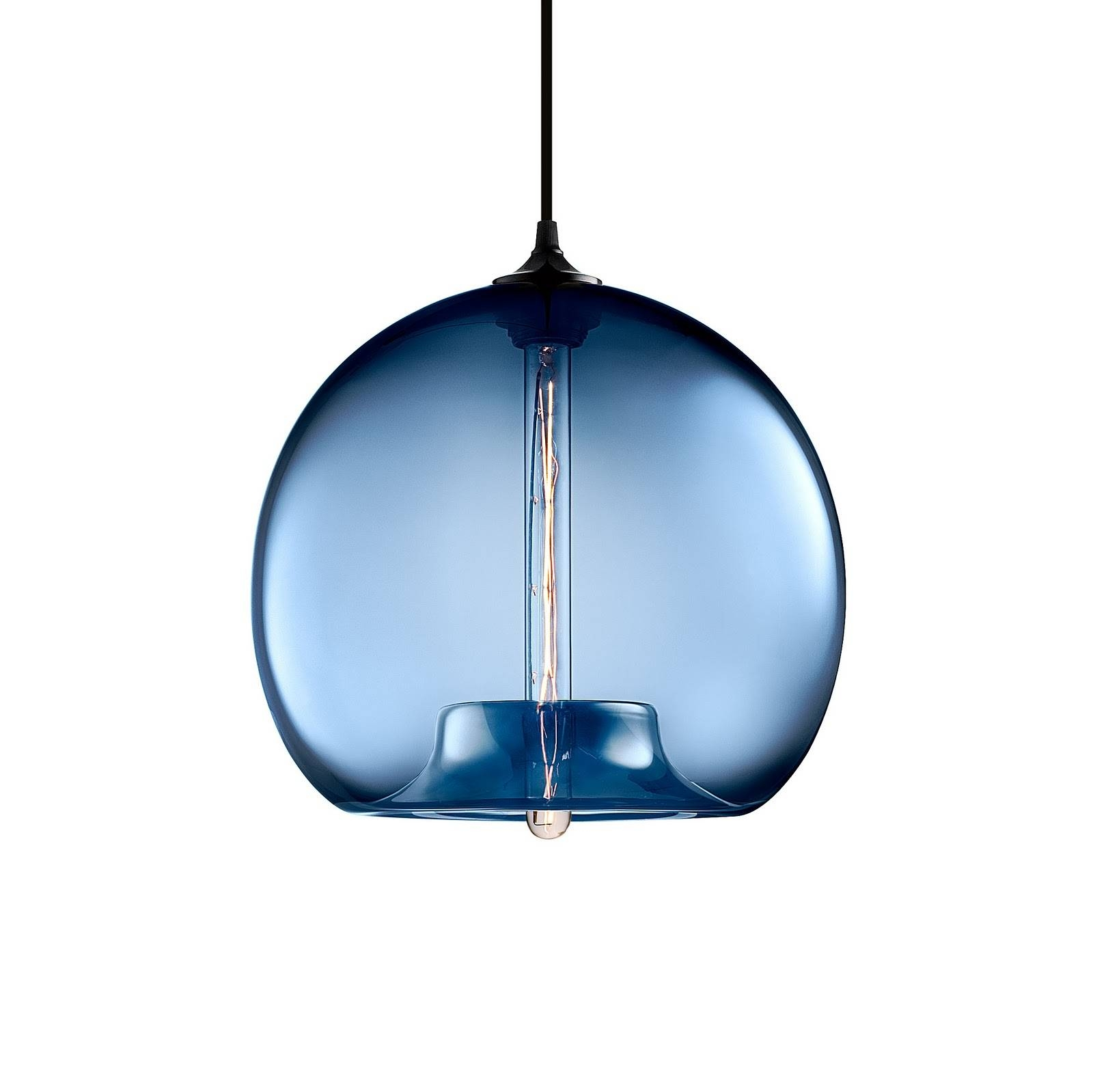 Home Lighting : Gorgeous Blown Glass Pendant Lighting For Kitchen with Blown Glass Pendant Lights Fixtures (Image 13 of 15)