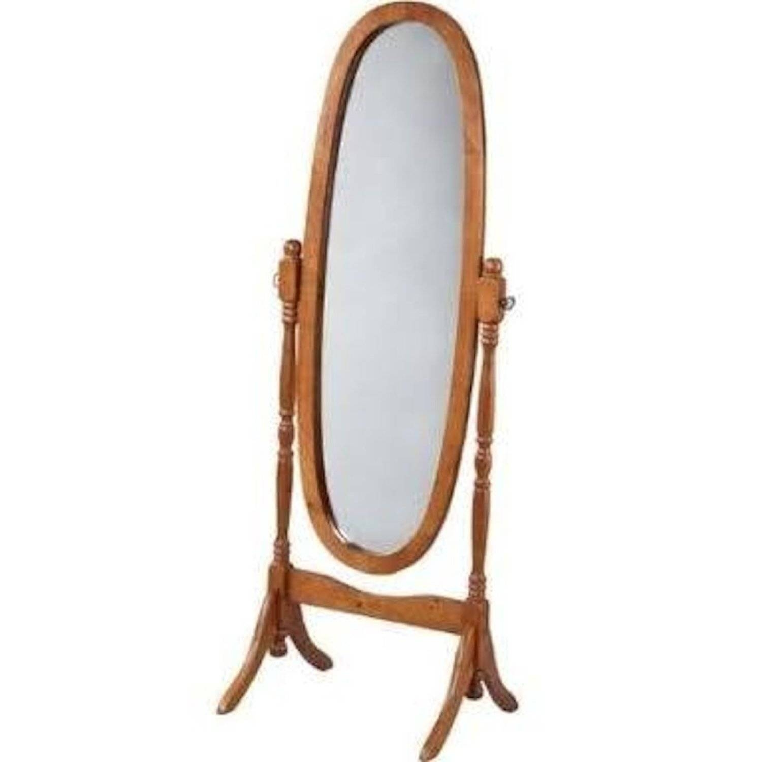 Homeware: Oval Full Length Standing Mirror | Large Floor Mirrors with regard to Long Oval Mirrors (Image 5 of 15)