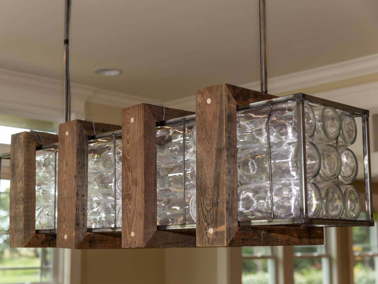 How To Build A Glass Bottle Chandelier | How-Tos | Diy with regard to Wine Glass Lights Fixtures (Image 5 of 15)