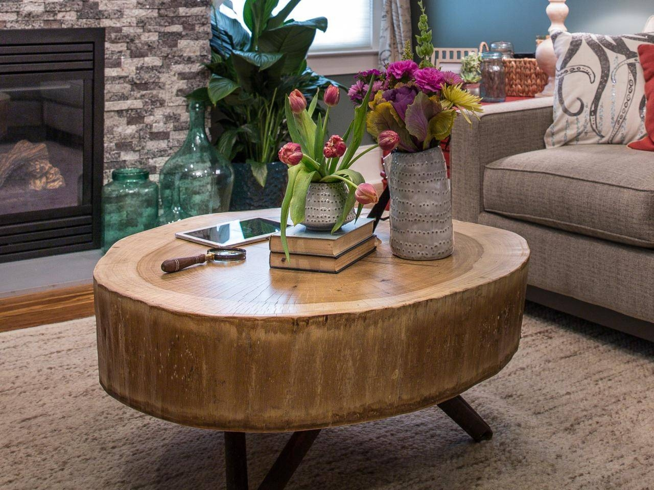 How To Build A Stump Coffee Table | How-Tos | Diy for Tree Trunk Coffee Table (Image 9 of 15)
