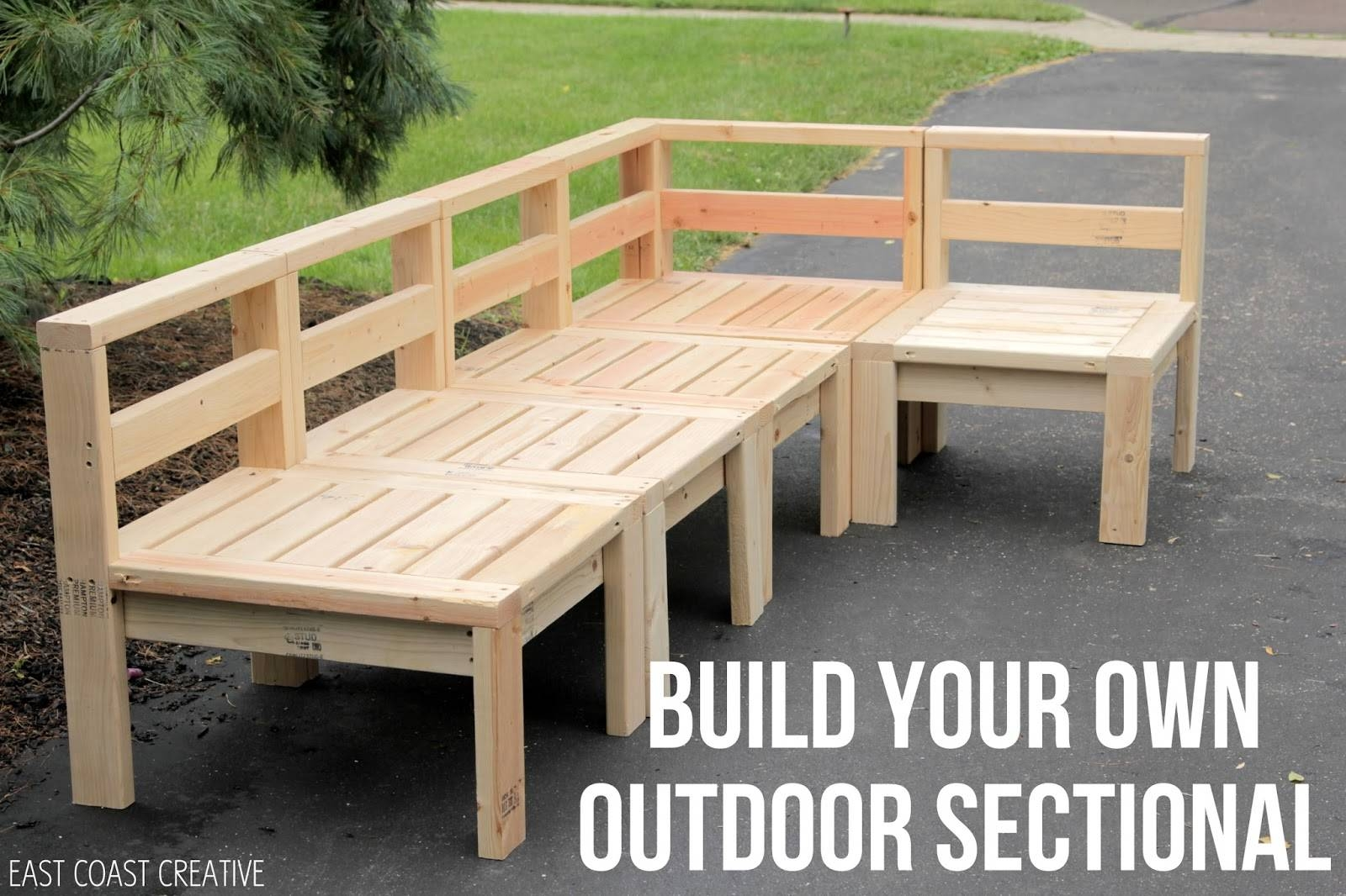 How To Build An Outdoor Sectional {Knock It Off} – East Coast Throughout Building A Sectional Sofas (View 8 of 15)