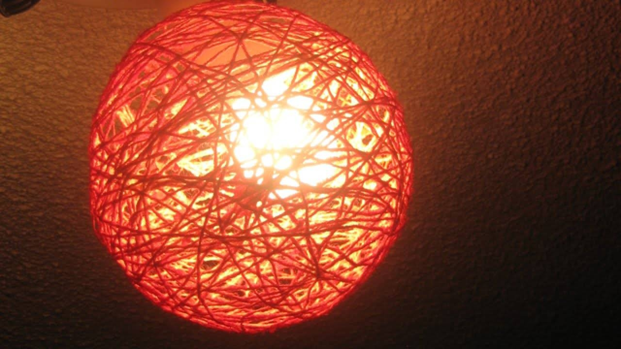 How To Create Pretty Yarn Ball Decorations - Diy Home Tutorial inside Diy Yarn Lights (Image 9 of 15)