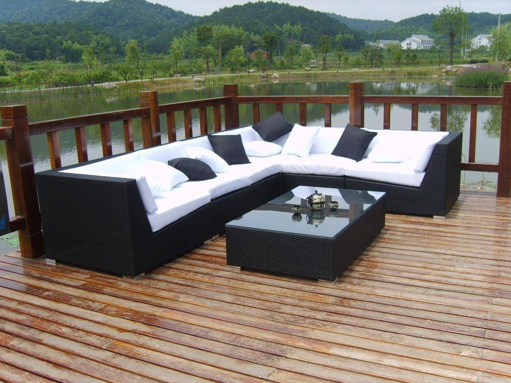 How To Decorate Outdoor Wicker Sofa | Babytimeexpo Furniture Throughout Black Wicker Sofas (View 9 of 15)