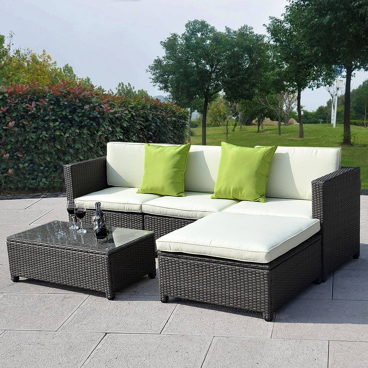 How To Decorate Outdoor Wicker Sofa | Babytimeexpo Furniture Within Black Wicker Sofas (View 10 of 15)