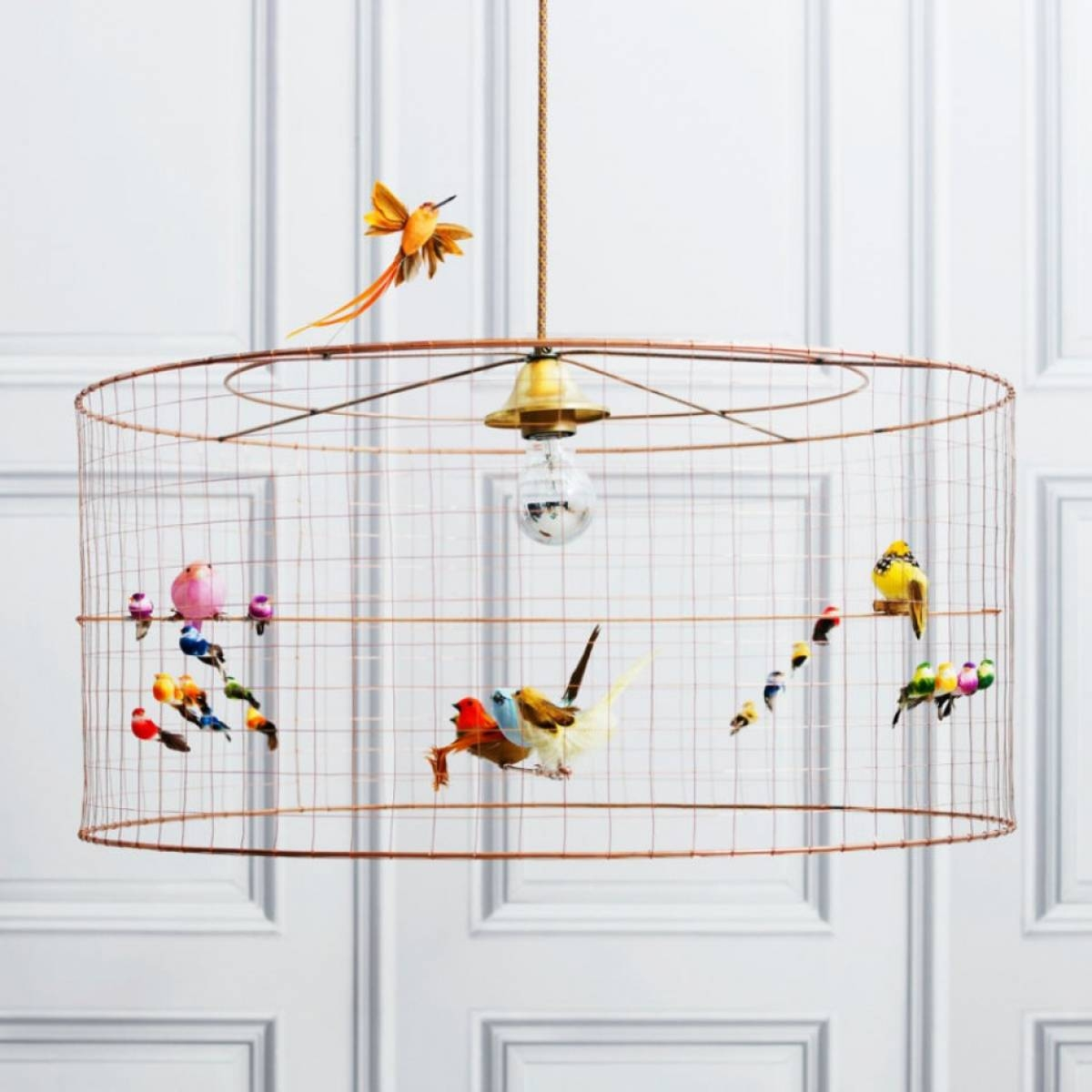 How To Make A Birdcage Pendant Light – Sophie Robinson Intended For Birdcage Pendant Lights (View 7 of 15)