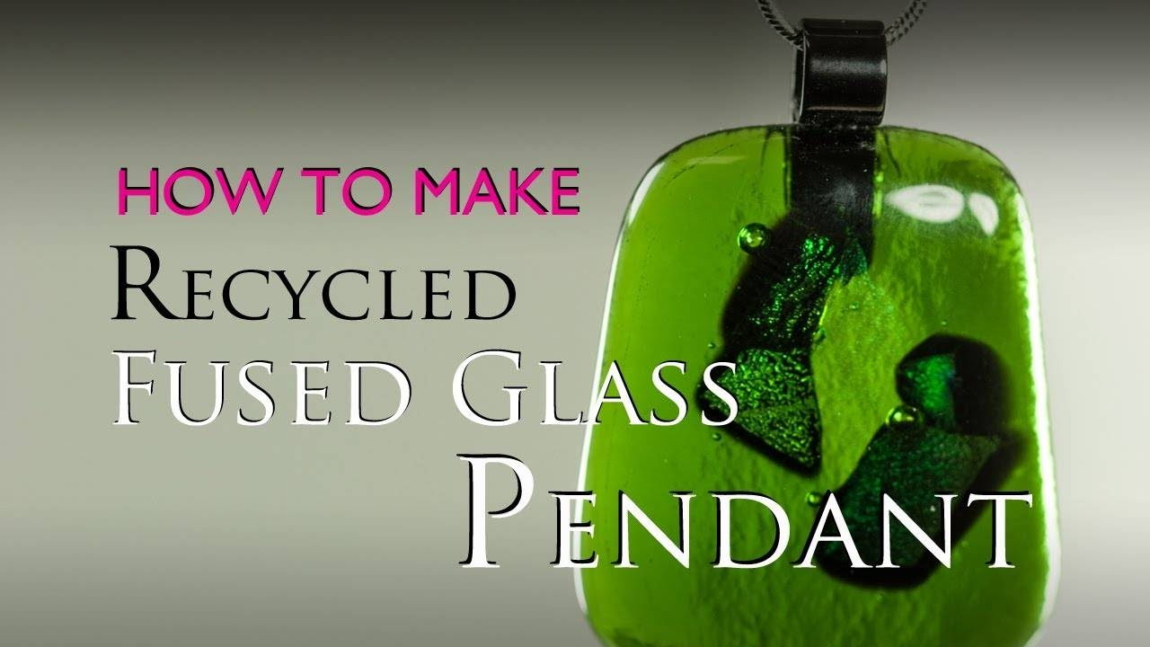 How To Make A Fused Glass Recycled Glass Pendant In A Microwave pertaining to Recycled Glass Pendants (Image 5 of 15)