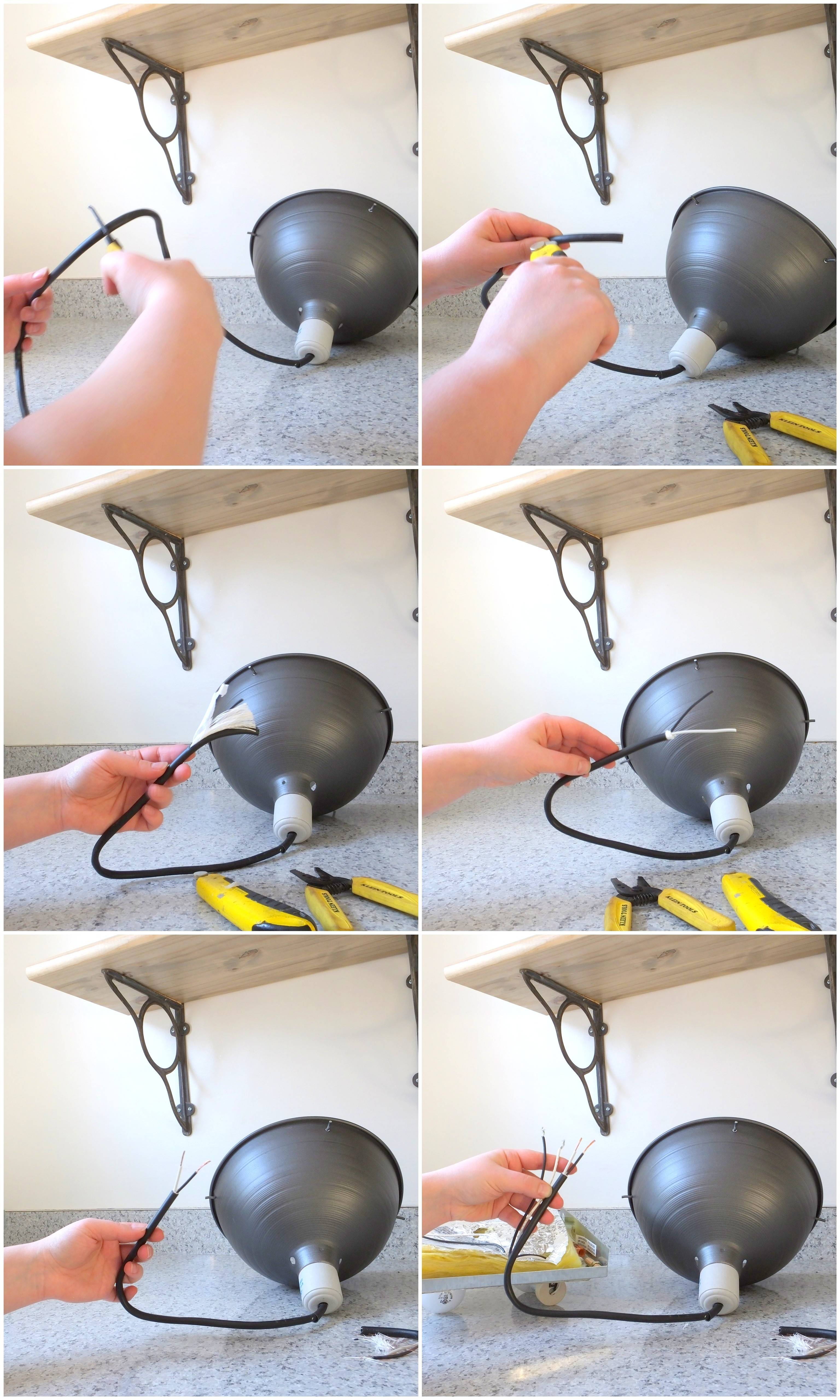 How To Turn A Plug In Light Into A Ceiling Light (It's Really Easy!) pertaining to Plugin Ceiling Lights (Image 9 of 15)