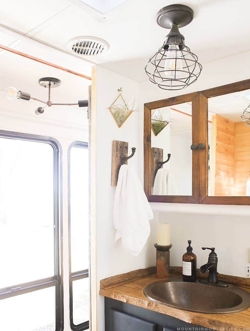 How To Update Rv Interior Lighting | Mountainmodernlife inside Rv Pendant Lights (Image 7 of 15)