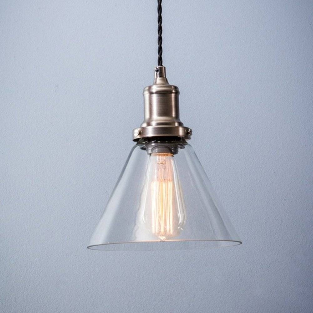 Hoxton Cone Glass Pendant Light pertaining to Edwardian Lamp Pendant Lights (Image 9 of 15)
