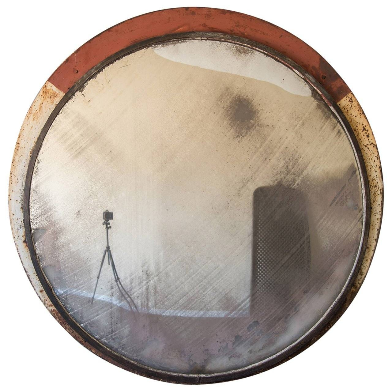 Huge Vintage Railway Convex Mirror, England Circa 1930 (53 inside Antique Convex Mirrors (Image 10 of 15)