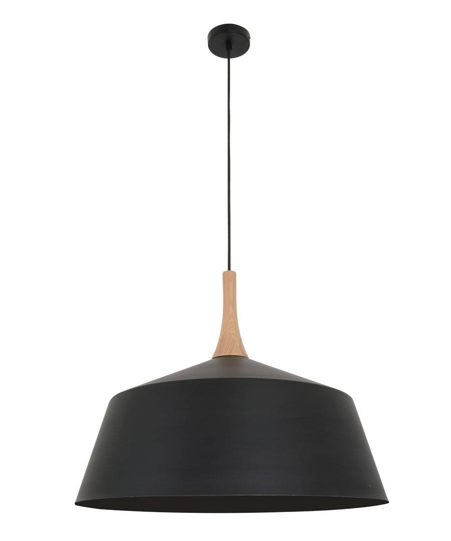 Husk 550Mm Pendant In Matt Black/ash with regard to Beacon Pendant Lights (Image 11 of 15)