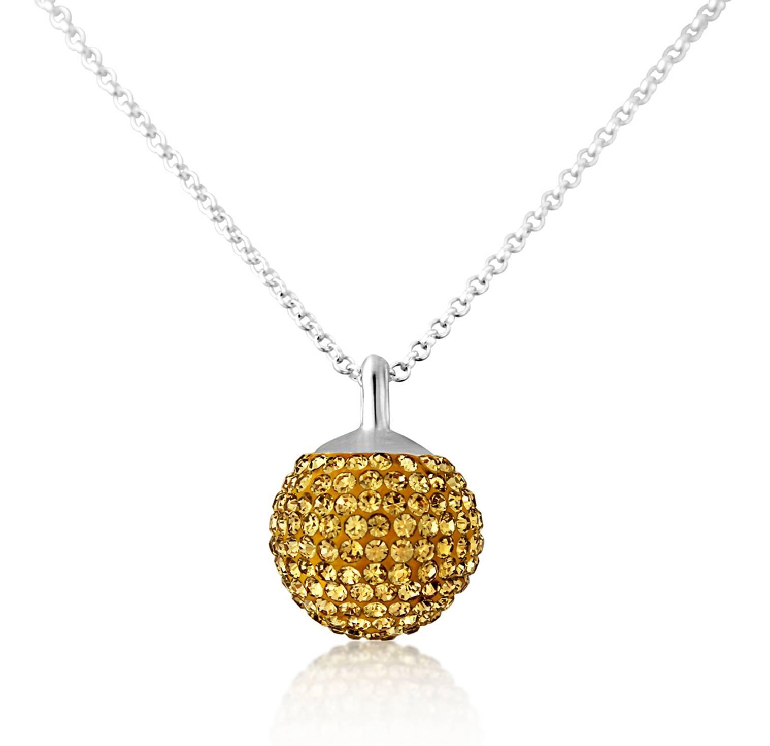 Hvar Gold Disco Necklace Auree Jewellery within Disco Ball Pendants (Image 4 of 15)