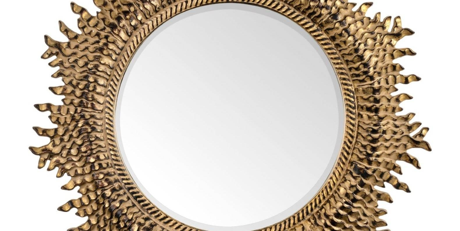 Ideal Gold Wall Mirror Round Tags : Gold Wall Mirrors Gold Wall Intended For Cheap Ornate Mirrors (View 4 of 15)