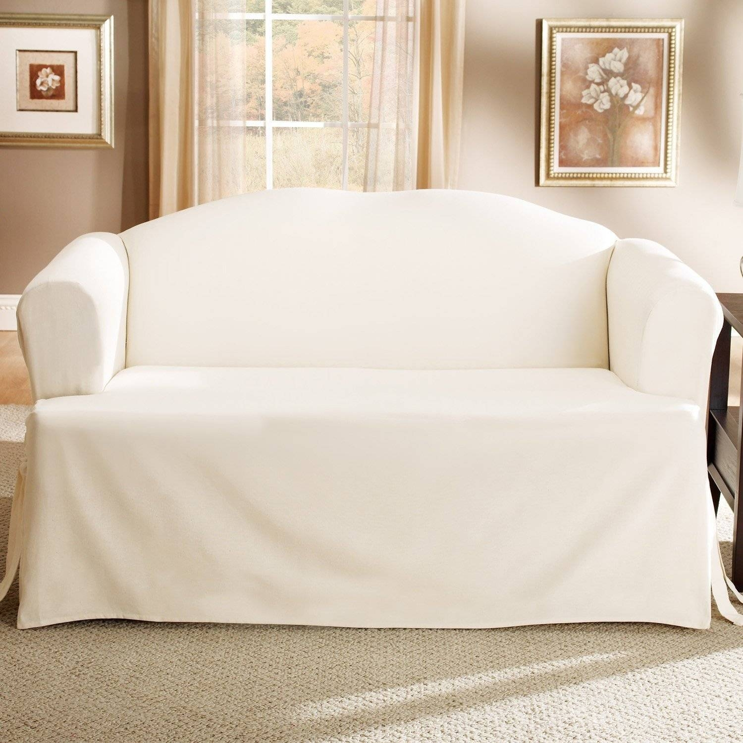Ideas: Canvas Couch Covers | Pottery Barn Slipcovers | Linen Sofa for Canvas Sofas Covers (Image 6 of 15)