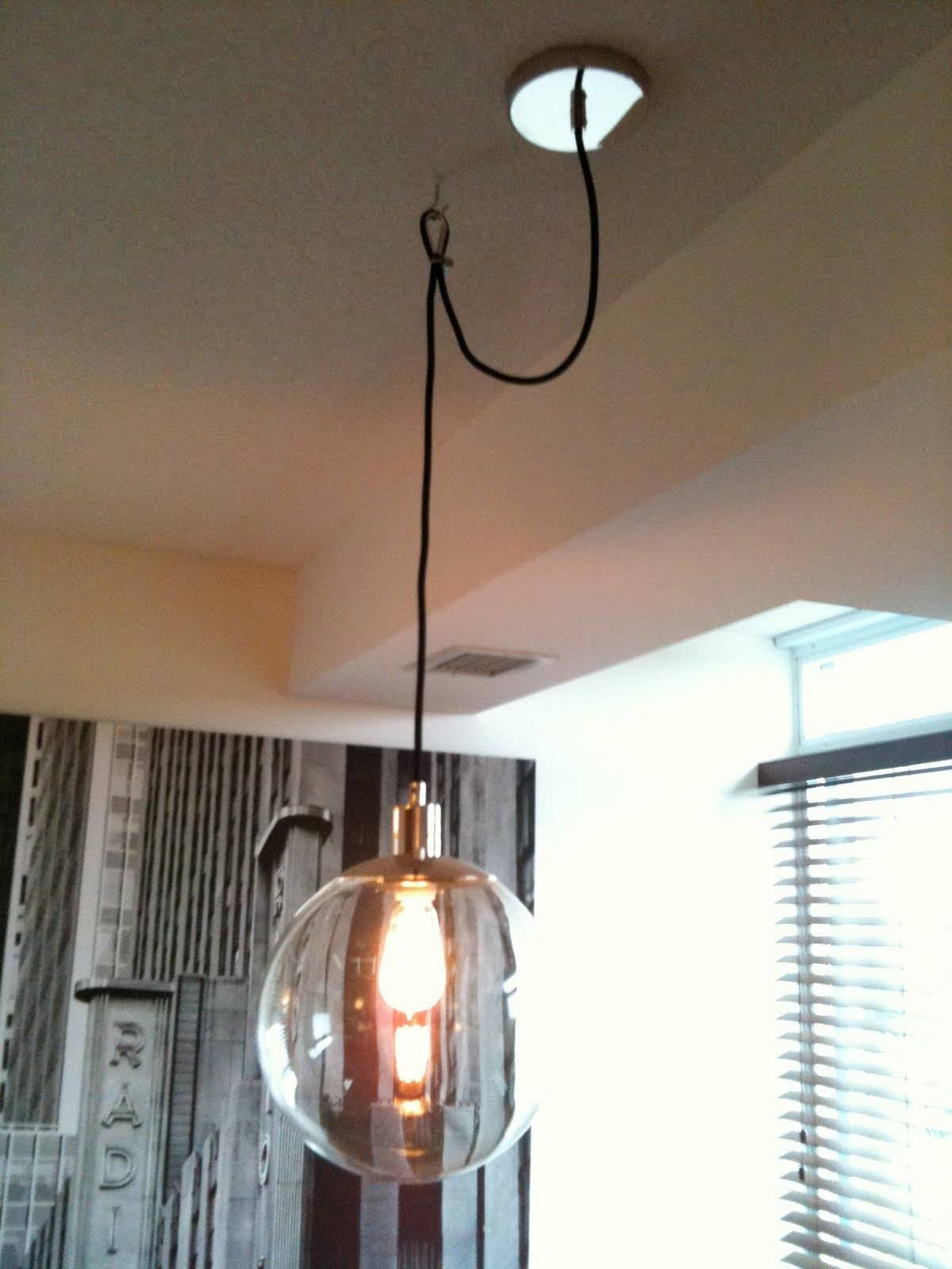 Ideas: Globe Pendant Lightingswag Lamps With Bali Shades For inside Plugin Ceiling Pendant Lights (Image 5 of 15)