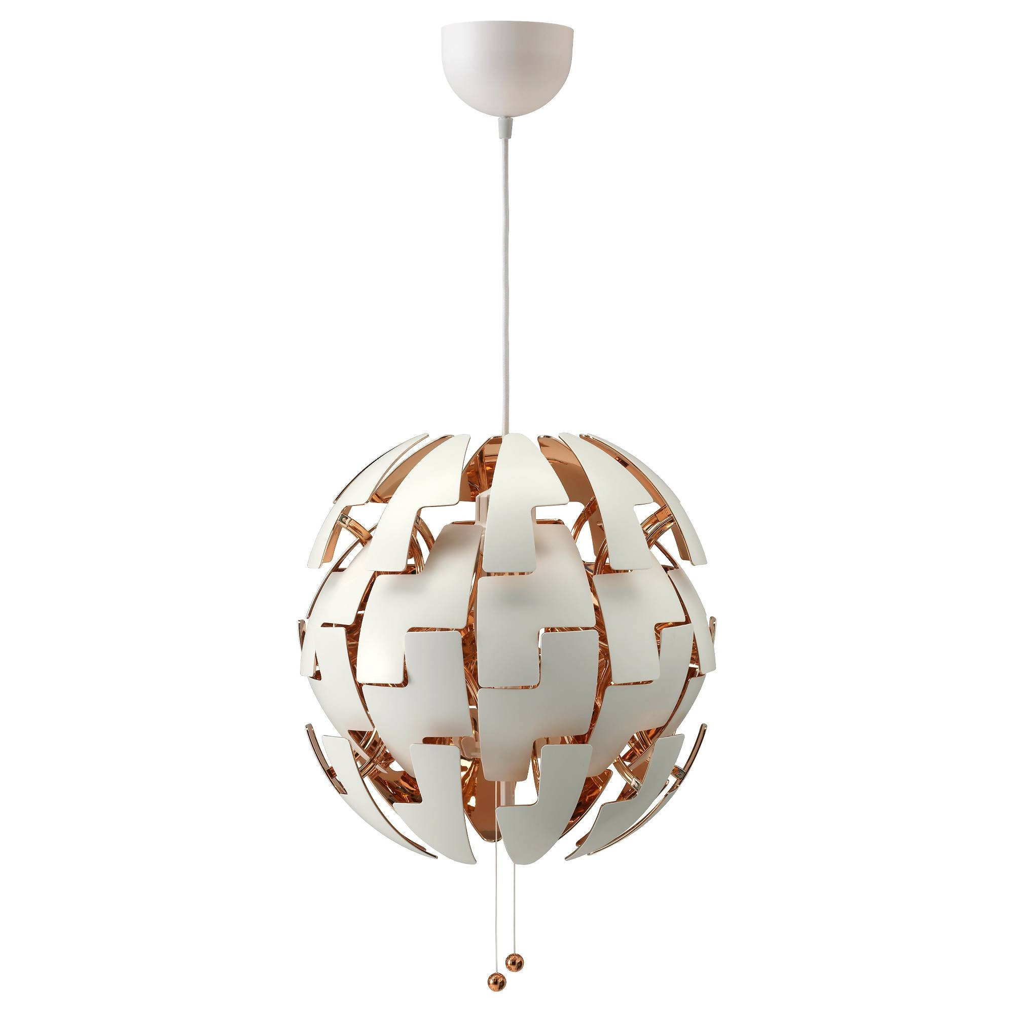 Ikea Ps 2014 Pendant Lamp – White/copper Color – Ikea Throughout Ikea Globe Lights (View 7 of 15)
