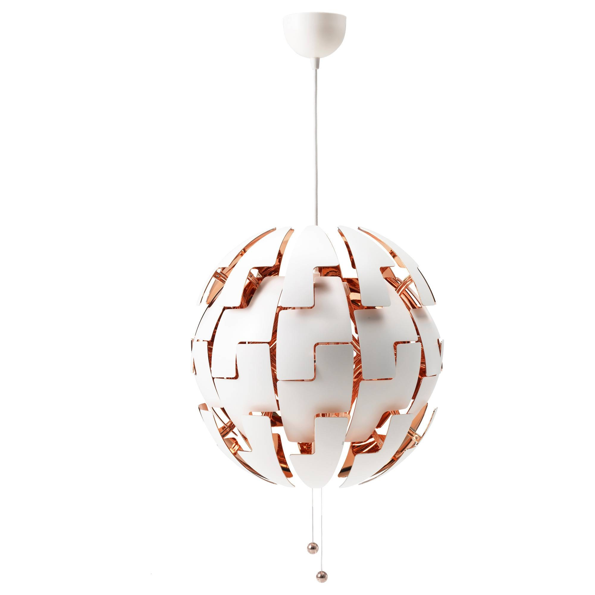 Ikea Ps 2014 Pendant Lamp White/copper-Colour 52 Cm - Ikea regarding Ikea Globe Pendant Lights (Image 10 of 15)