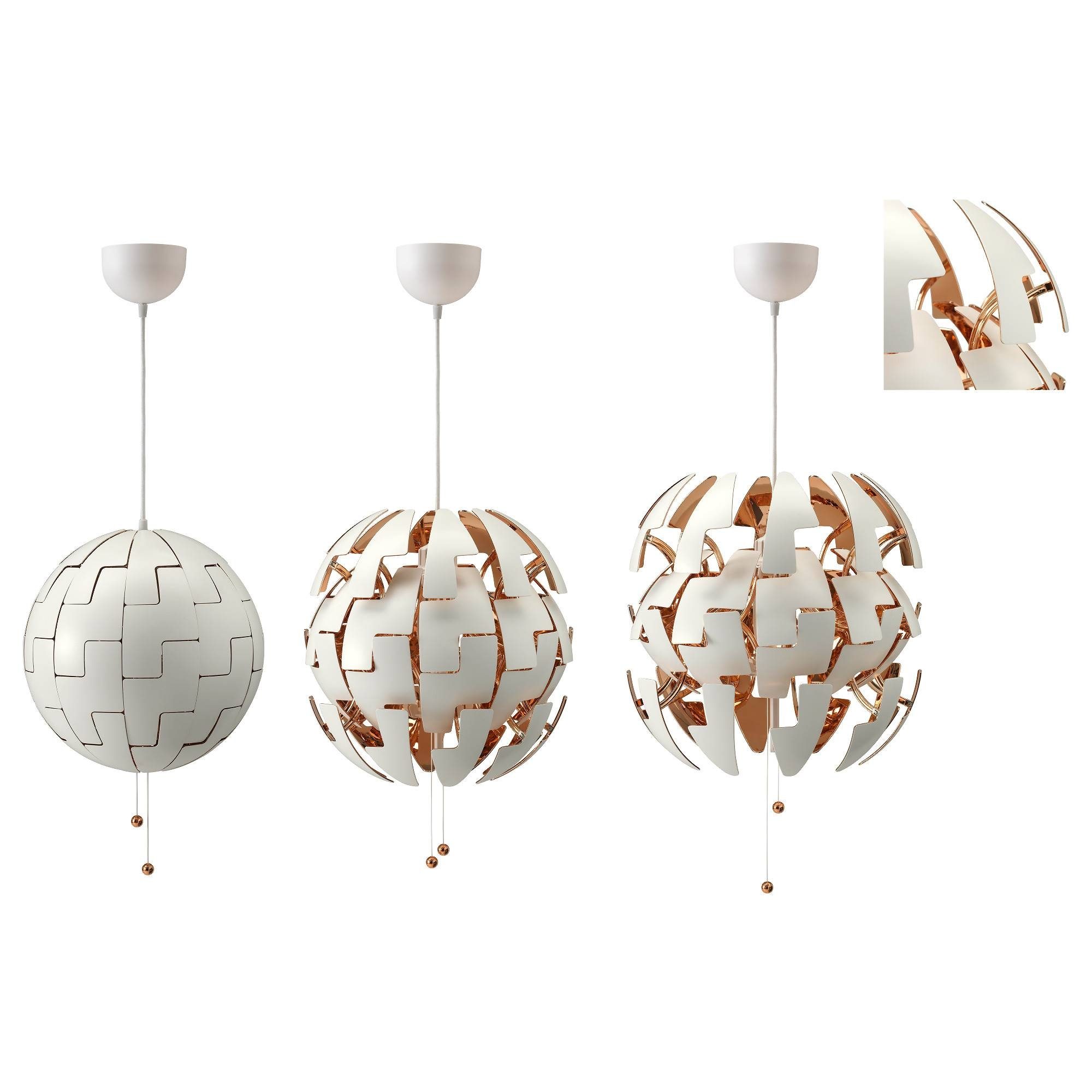 Ikea Ps 2014 Pendant Lamp White/copper Colour – Ikea Throughout Ikea Globe Pendant Lights (View 8 of 15)
