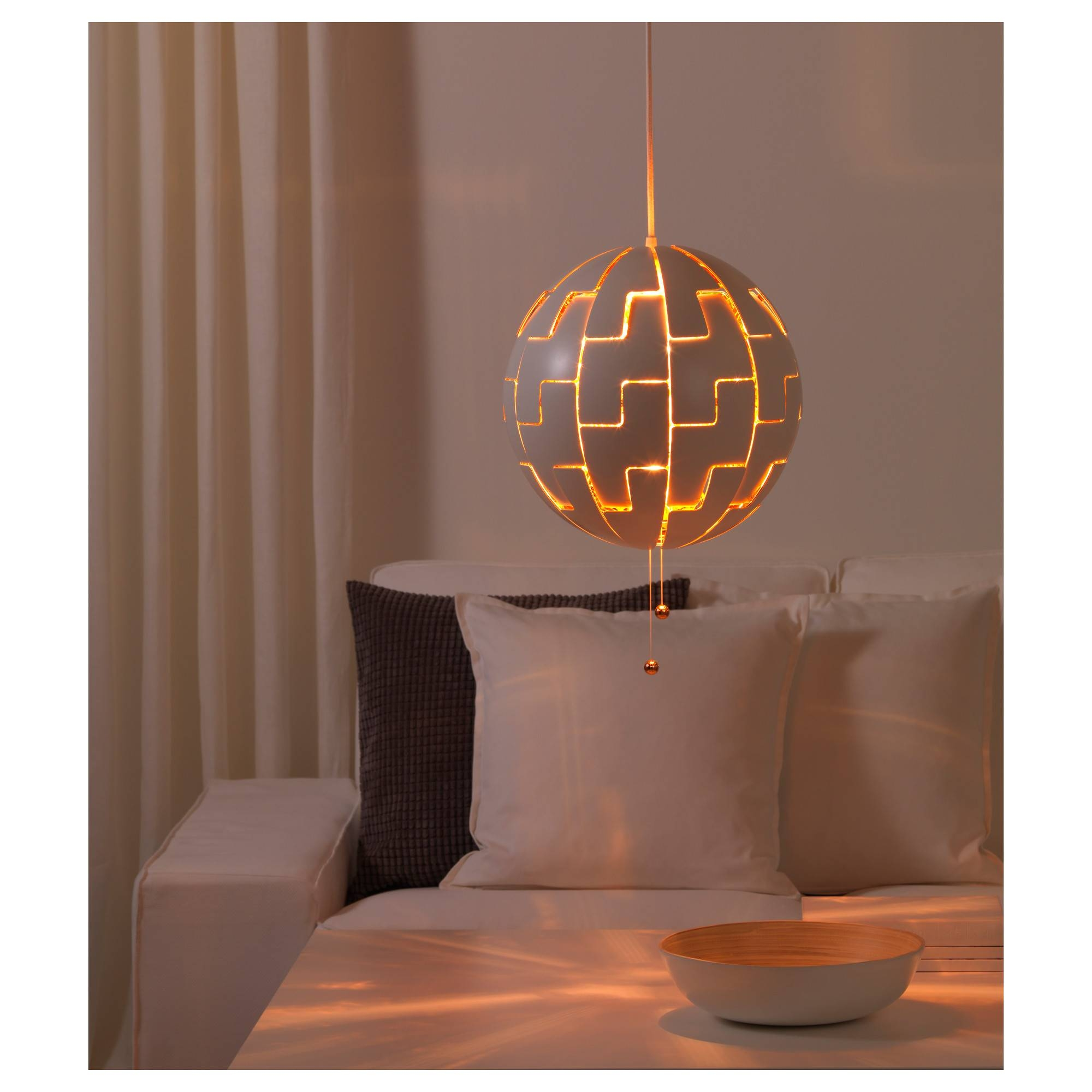 Ikea Ps 2014 Pendant Lamp White/copper-Colour - Ikea within Ikea Globe Pendant Lights (Image 9 of 15)
