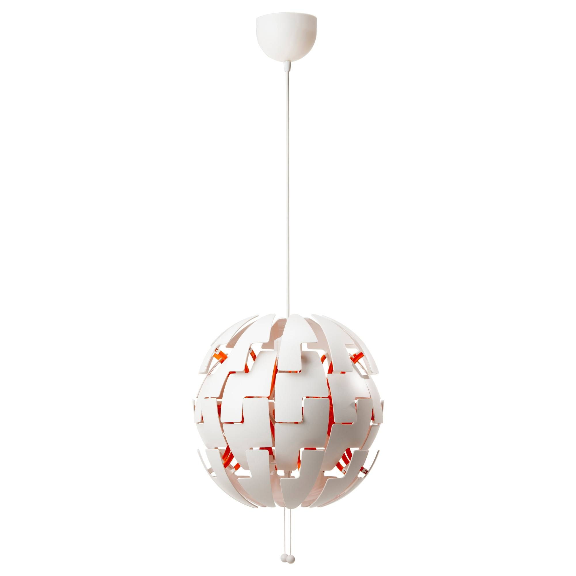 Ikea Ps 2014 Pendant Lamp White/orange - Ikea with Ikea Pendant Lights Fixtures (Image 11 of 15)