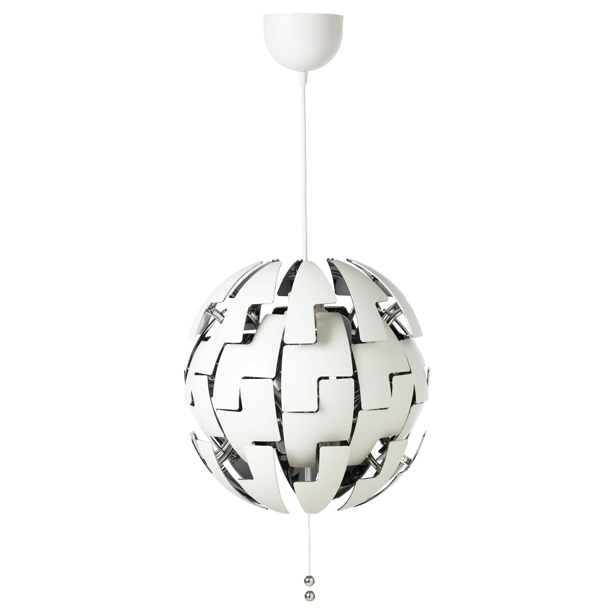 Ikea Ps 2014 Pendant Lamp White/silver Colour – Ikea With Regard To Silver Ball Pendant Lights (View 8 of 15)