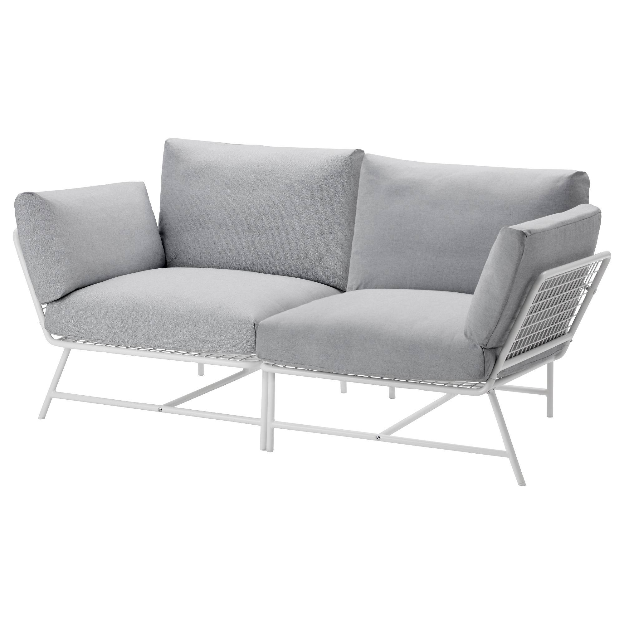 Ikea Ps 2017 2-Seat Sofa White/grey - Ikea for Single Seat Sofa Chairs (Image 5 of 15)
