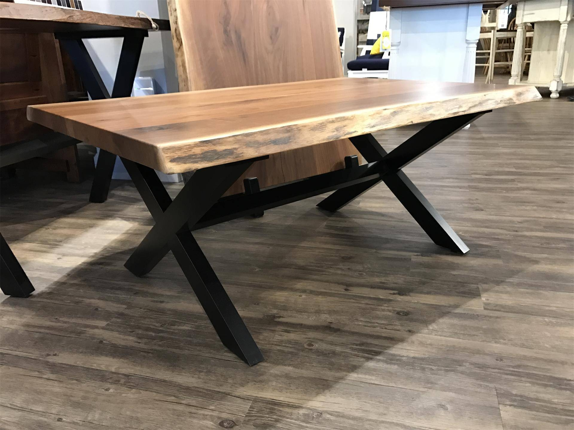 In Stock Live Edge Coffee Table From Dutchcrafters Amish Furniture with regard to Live Edge Coffee Tables (Image 10 of 15)