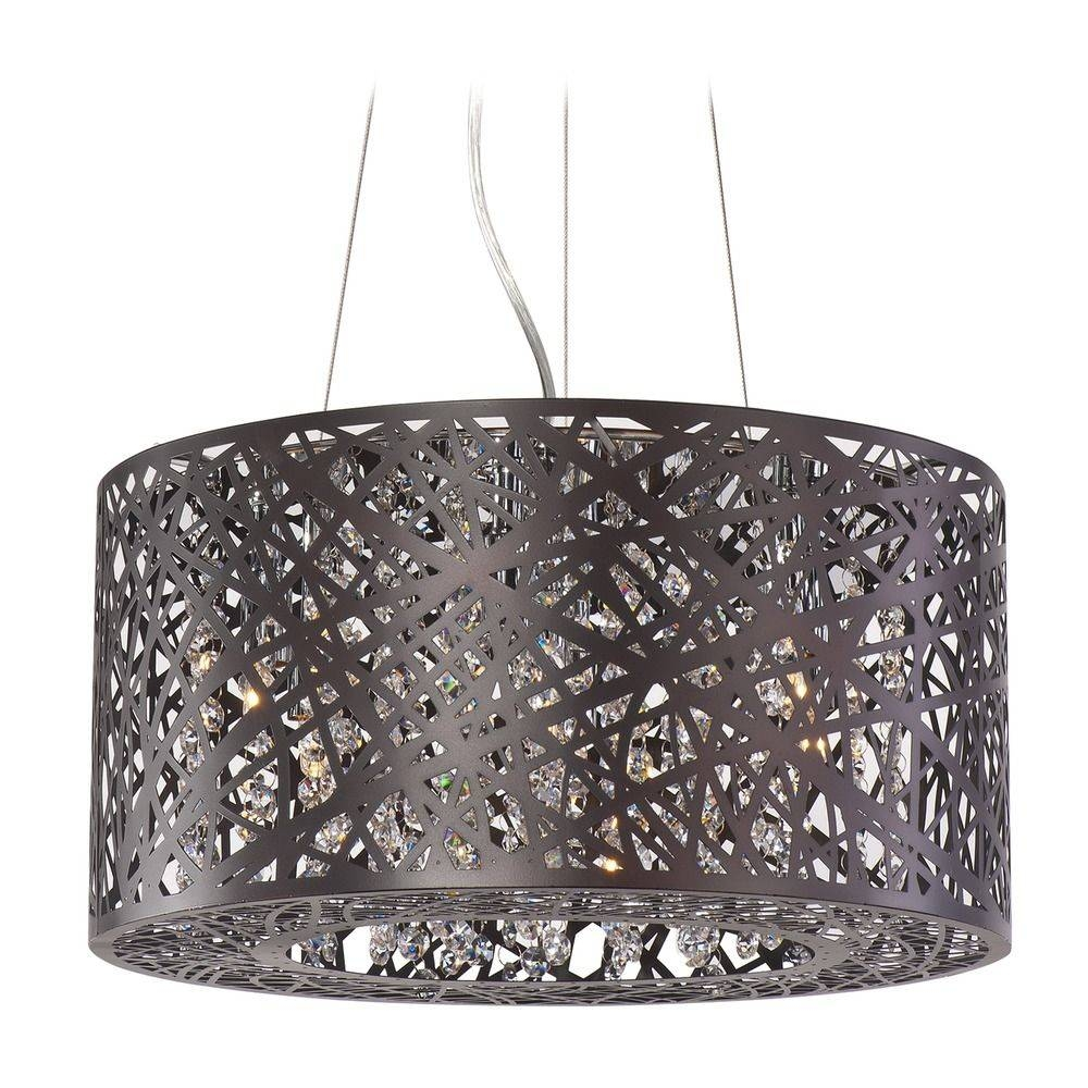Inca Bronze Pendant Light With Drum Shade | E21309-10Bz pertaining to Inca Pendant Lights (Image 13 of 15)