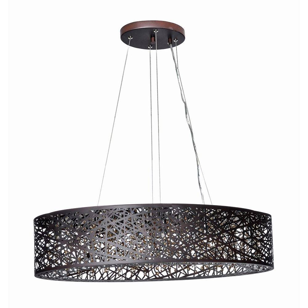 Inca Bronze Pendant Light With Oval Shade | E21310-10Bz pertaining to Inca Pendant Lights (Image 14 of 15)