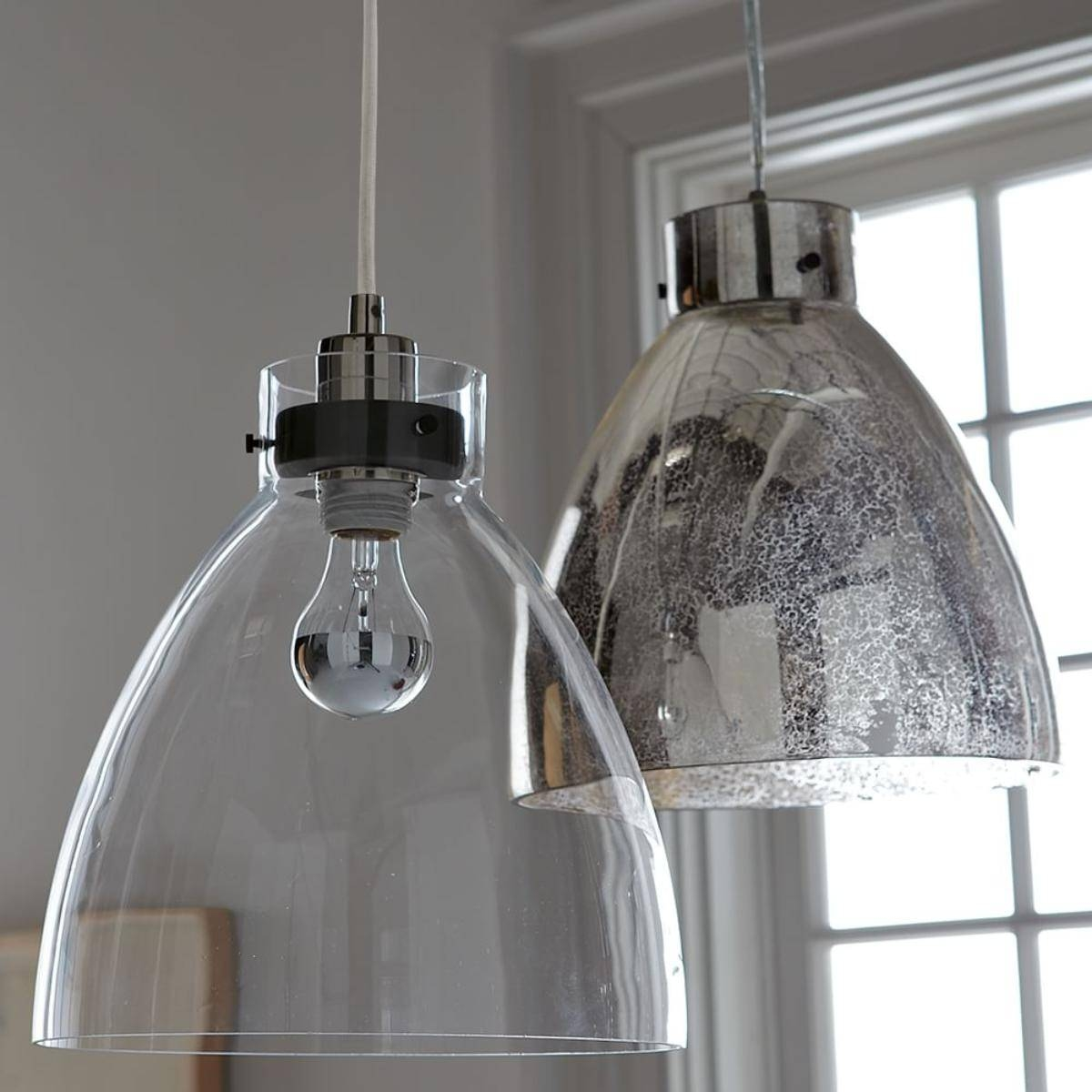 Industrial Pendant Lighting Glass : Some Style Industrial Pendant within West Elm Drum Pendant Lights (Image 11 of 15)