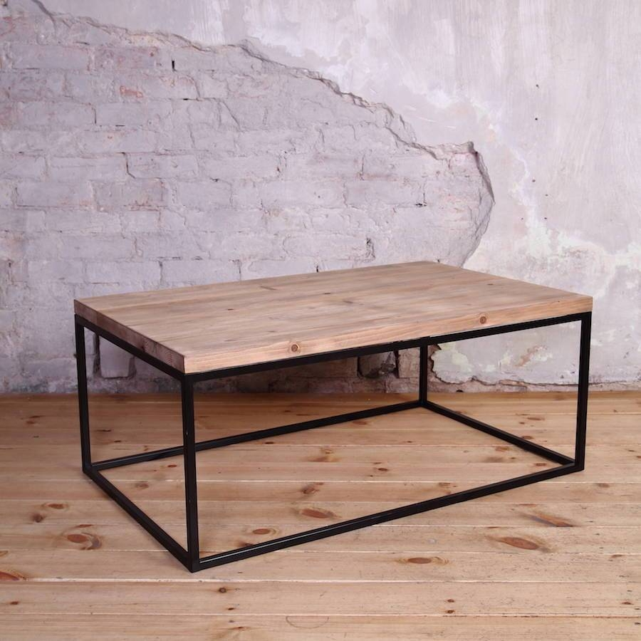 Industrial Style Coffee Tablecosywood | Notonthehighstreet Inside Industrial Style Coffee Tables (View 2 of 15)