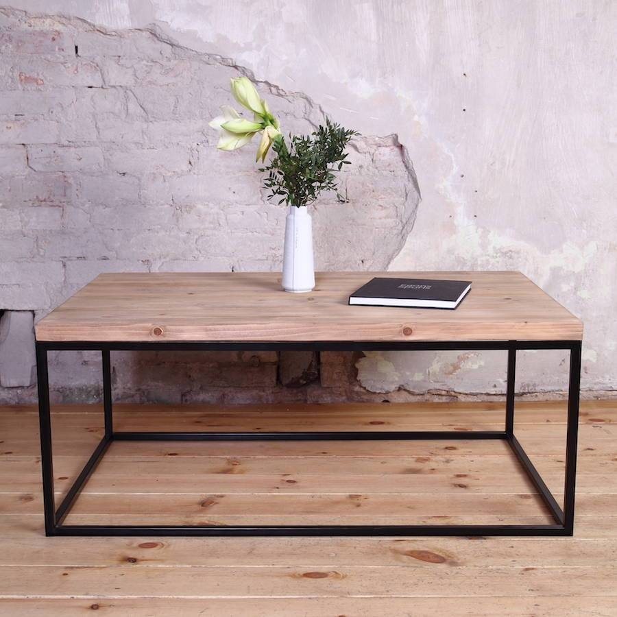 Industrial Style Coffee Tablecosywood | Notonthehighstreet Pertaining To Industrial Style Coffee Tables (View 11 of 15)