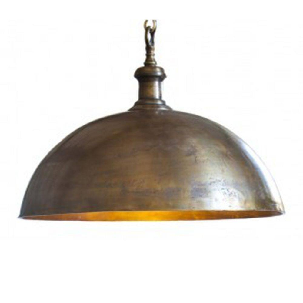 Industrial Style Dome Pendant Light In Brass Finish | 3034418 intended for Industrial Looking Pendant Lights Fixtures (Image 7 of 15)