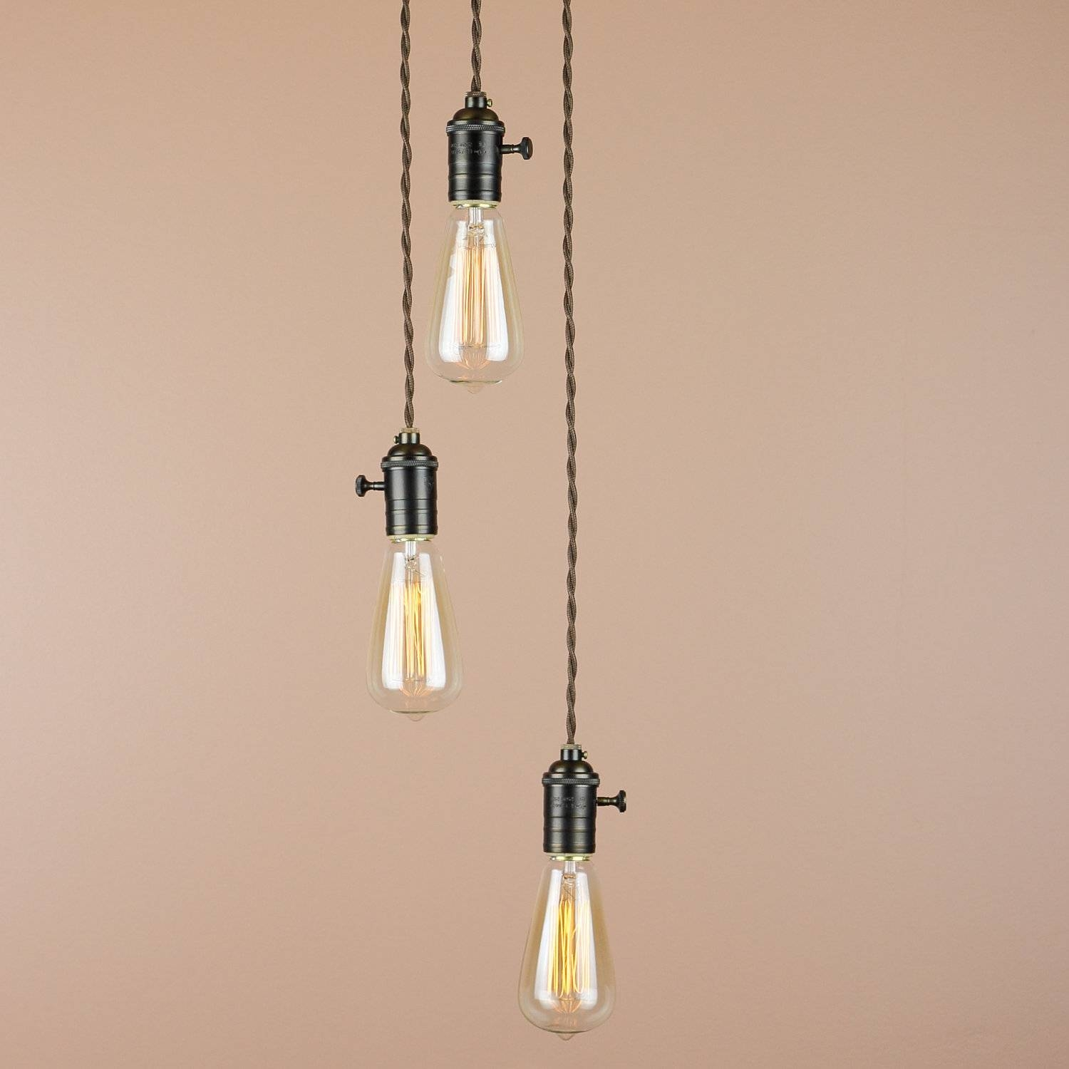 Industrial Style Kitchen Pendant Lights ~ Picgit throughout Exposed Bulb Pendant Track Lighting (Image 13 of 15)