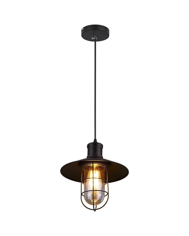 Industrial Style Pendant Light With A Cage Frame And Umbrella within Industrial Looking Pendant Lights Fixtures (Image 8 of 15)