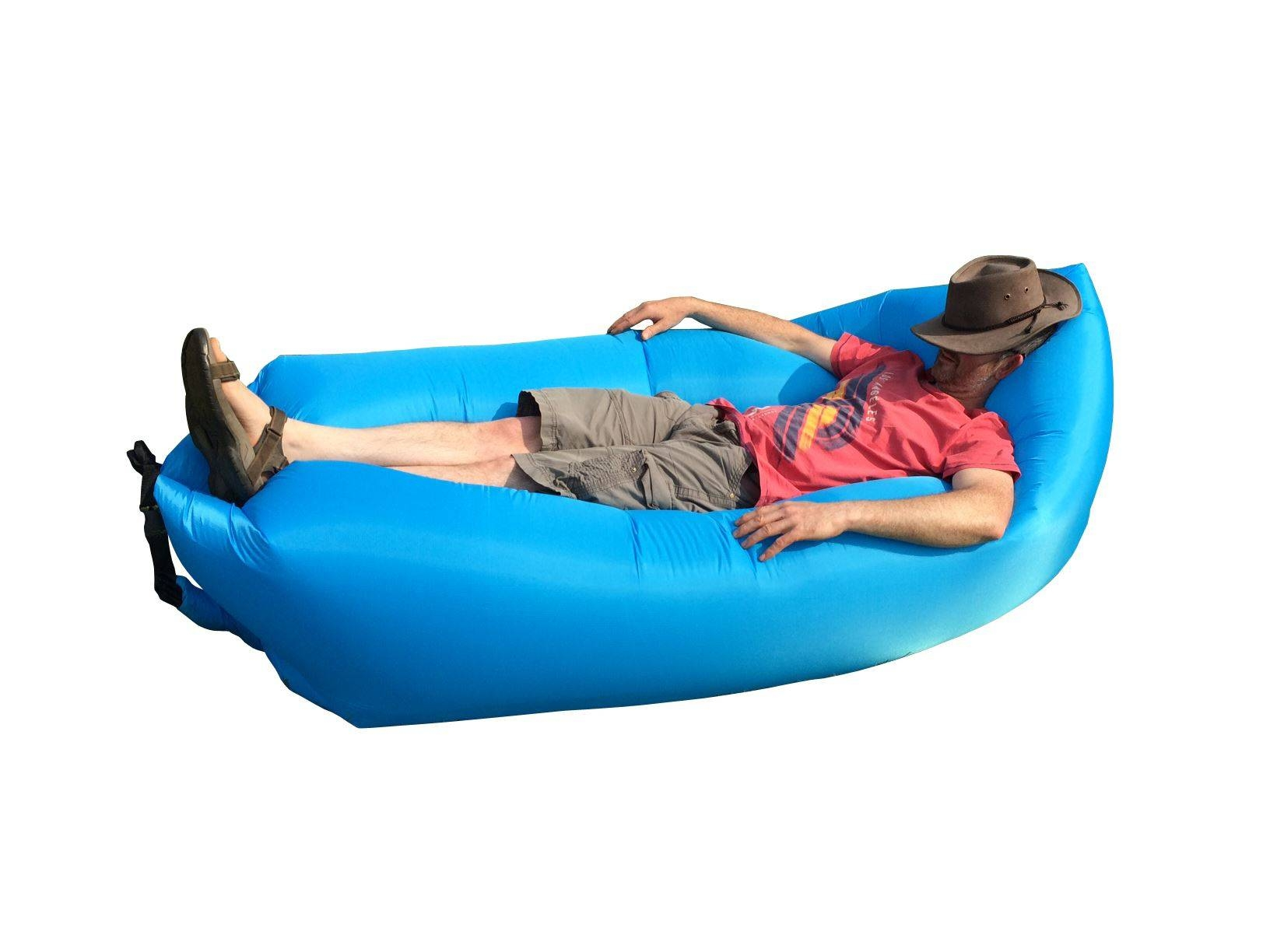 Inflatable Sofa Chair Air Bed Luxury Seat Camping Festival Holiday with regard to Inflatable Sofas And Chairs (Image 6 of 15)