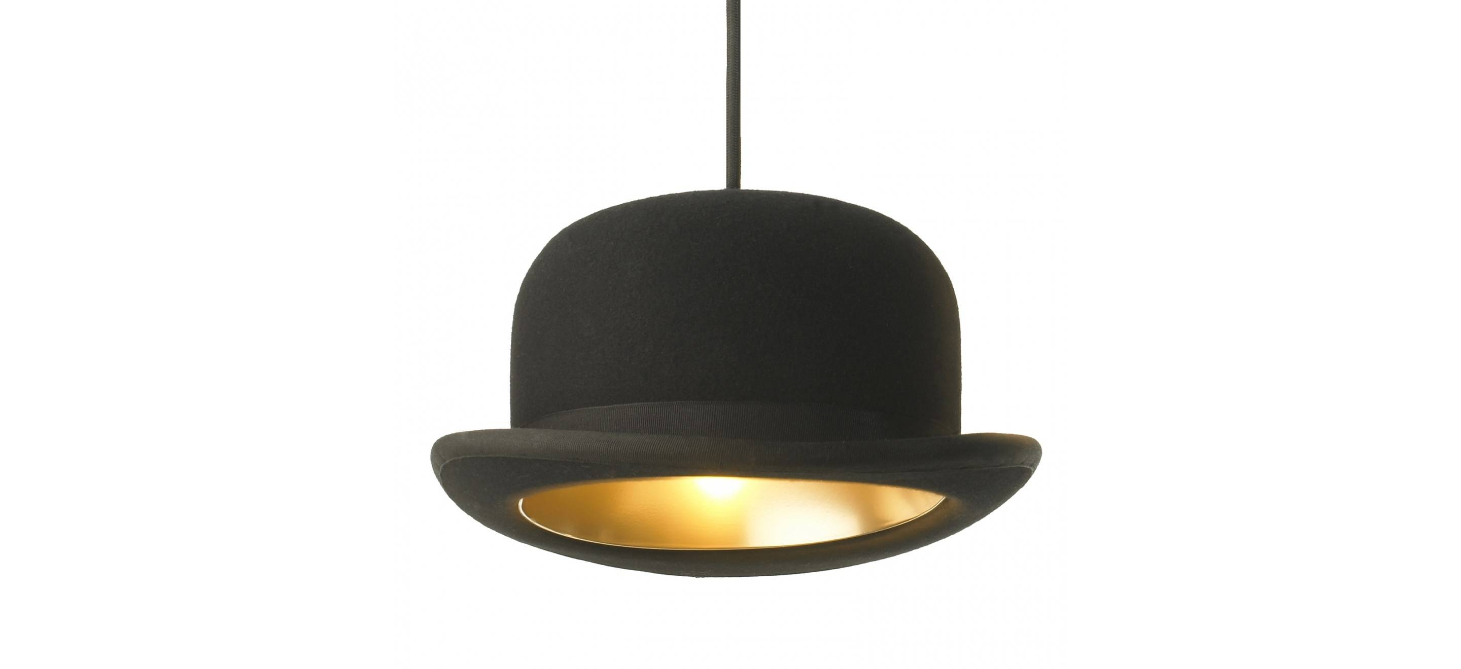 Innermost Jeeves Felt Bowler Hat Pendant Light within Jeeves and Wooster Pendant Lights (Image 4 of 15)