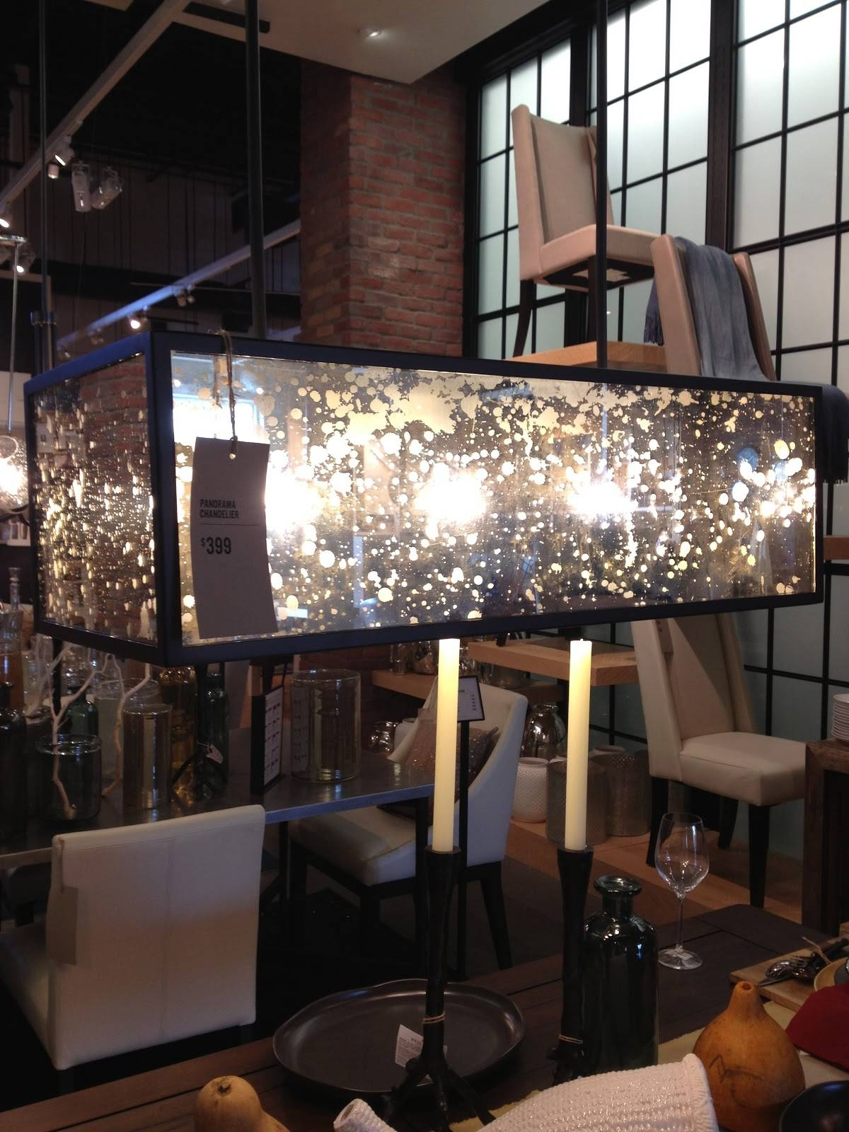 Inside-Out Design: A Trip To West Elm regarding West Elm Glass Pendants (Image 9 of 15)