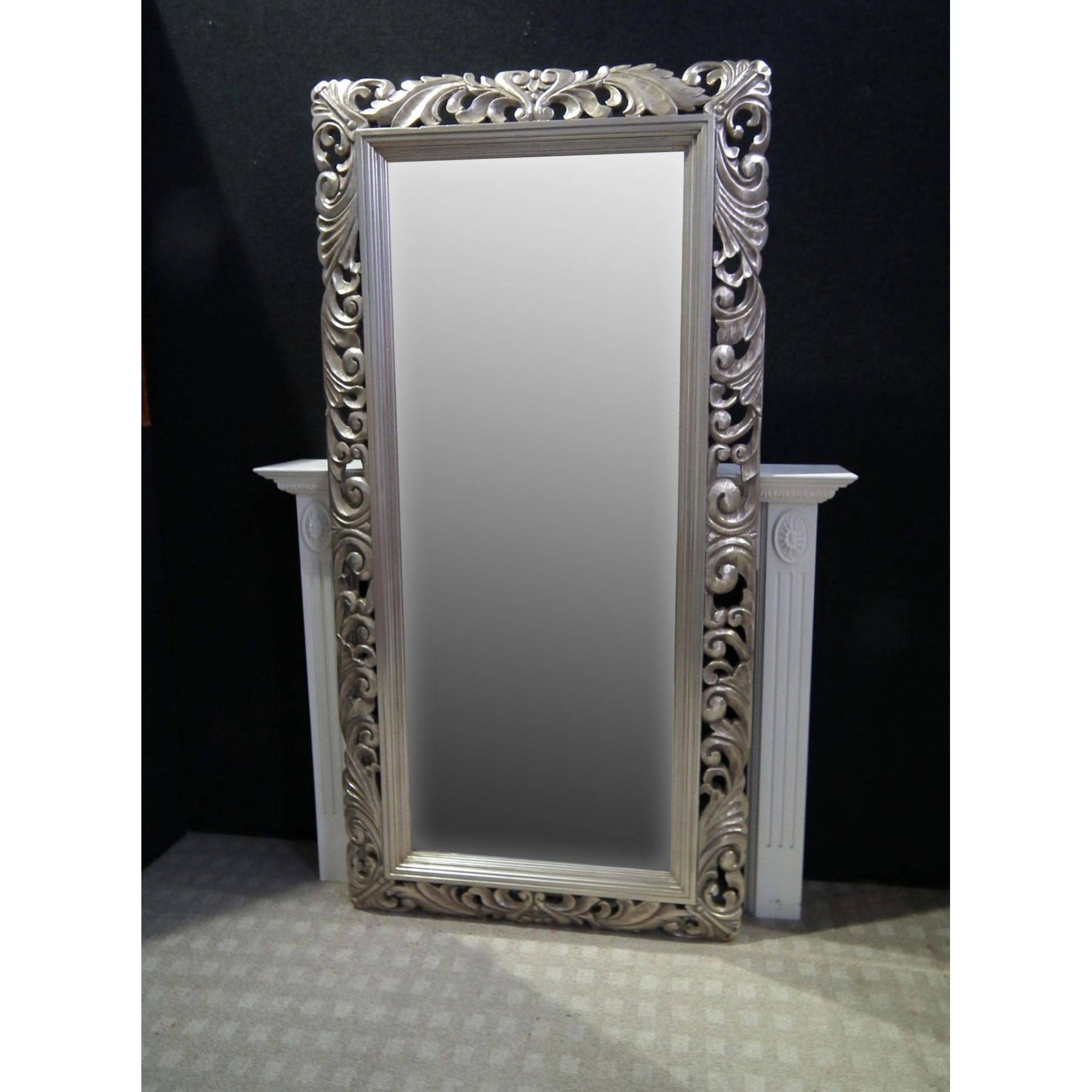 Interior & Decoration: Antique Floorstanding Mirrorornate Mirrors with regard to Ornate Leaner Mirrors (Image 8 of 15)