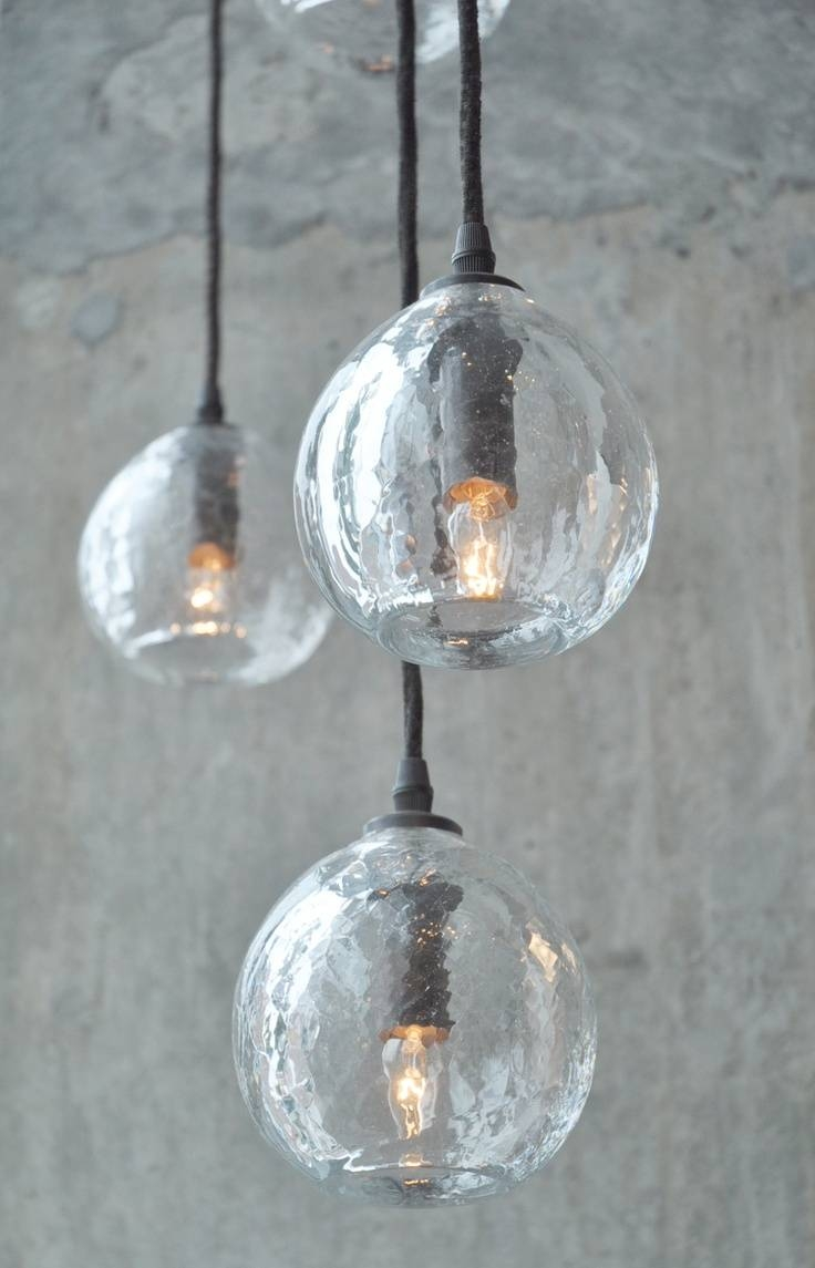 Interior: Glass Orb Pendant Light And Glass Orb Chandelier regarding Glass Orb Pendant Lights (Image 13 of 15)