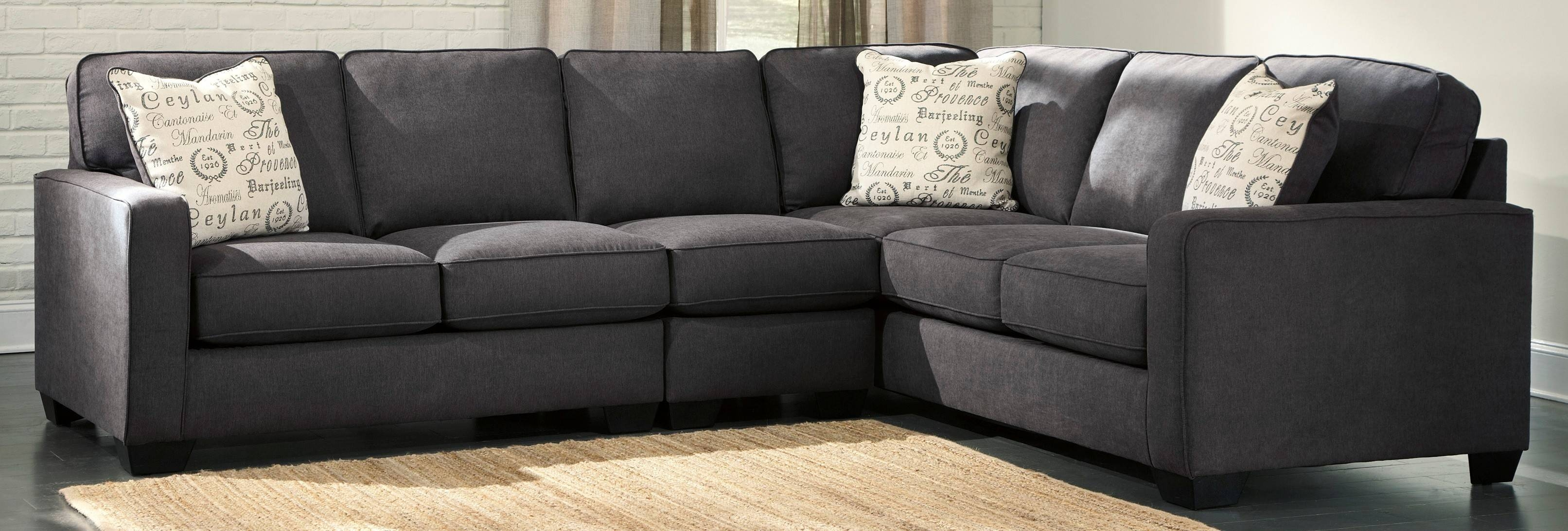 Interior: Gorgeous Lady Charcoal Sectional For Living Room for Individual Sectional Sofas Pieces (Image 6 of 15)