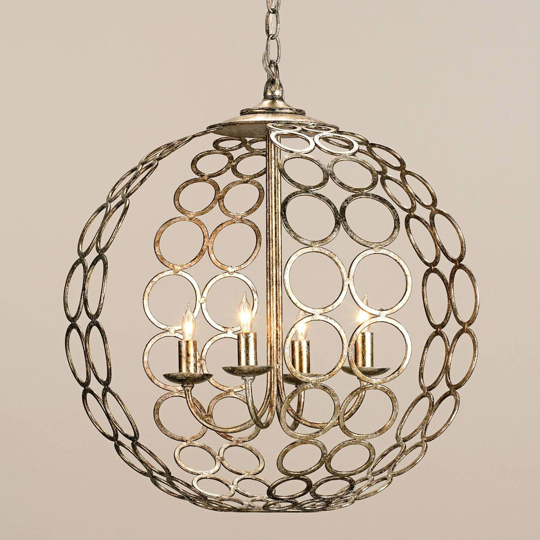 Interior: Paxton Glass 3 Light Pendant And Glass Orb Chandelier In Paxton Glass 3 Lights Pendants (View 12 of 15)