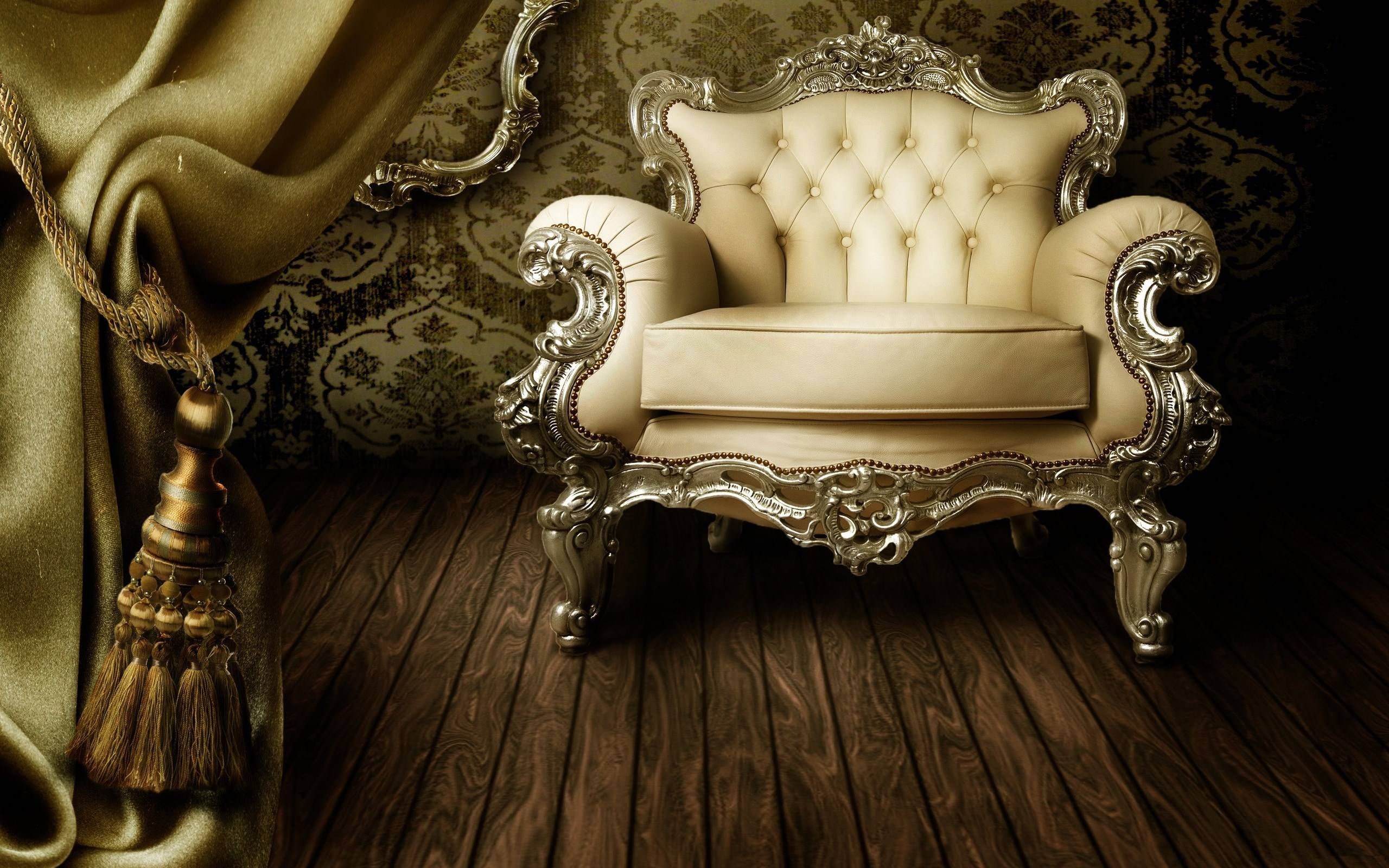 Interior, Retro, Vintage, Classic, Chair, Sofa, Curtain, Floor for Retro Sofas and Chairs (Image 7 of 15)