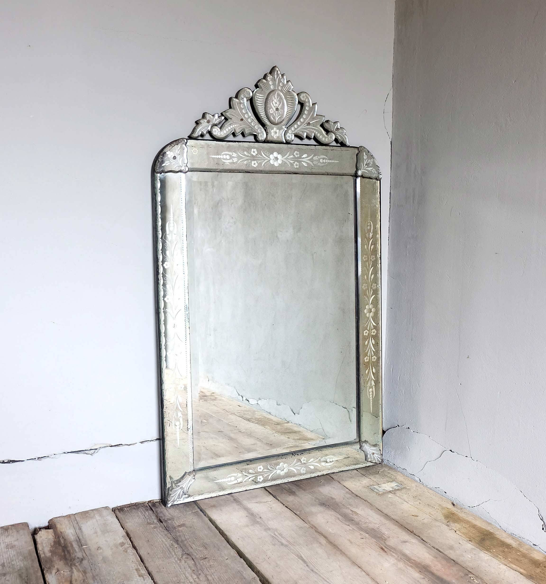 Interior: Venetian Beaded Leaner Mirror Venetian Mirror Large with regard to Large Venetian Wall Mirrors (Image 7 of 15)
