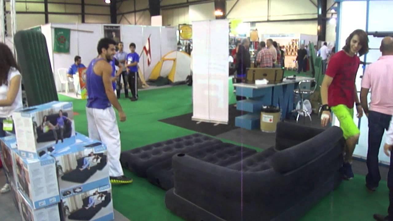Intex Air Beds 1 - Youtube regarding Intex Queen Sleeper Sofas (Image 1 of 15)